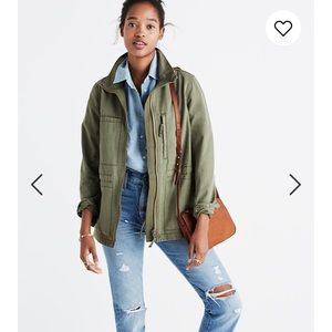 Madewell Fleet Jacket Desert Olive Size S